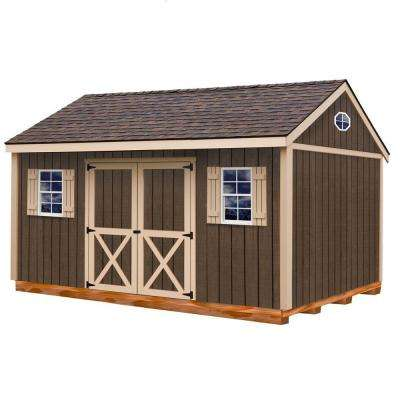 Brookfield 16 ft. x 12 ft. Wood Storage Shed Kit with Floor Including 4 x 4 Runners