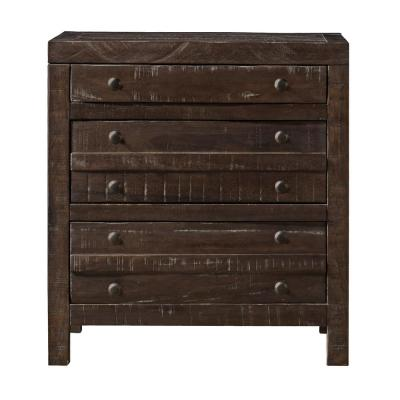 Townsend 3-Drawer Java Nightstand 29 in. H x 27 in. W x 18 in. D