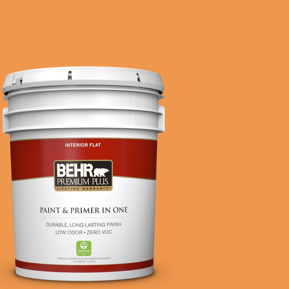 5 gal. #270B-6 Autumn Orange Zero VOC Flat Interior Paint