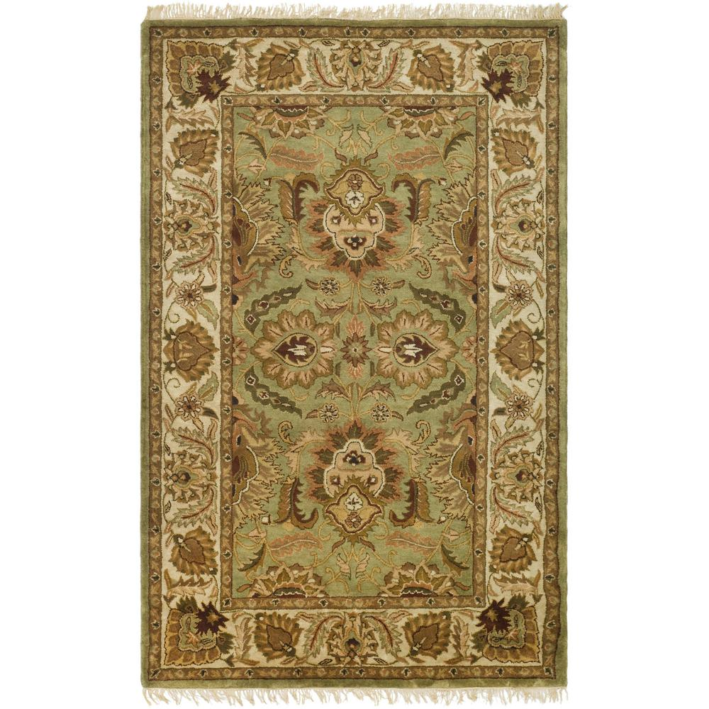 Classic Green/Ivory 5 ft. x 8 ft. Area Rug
