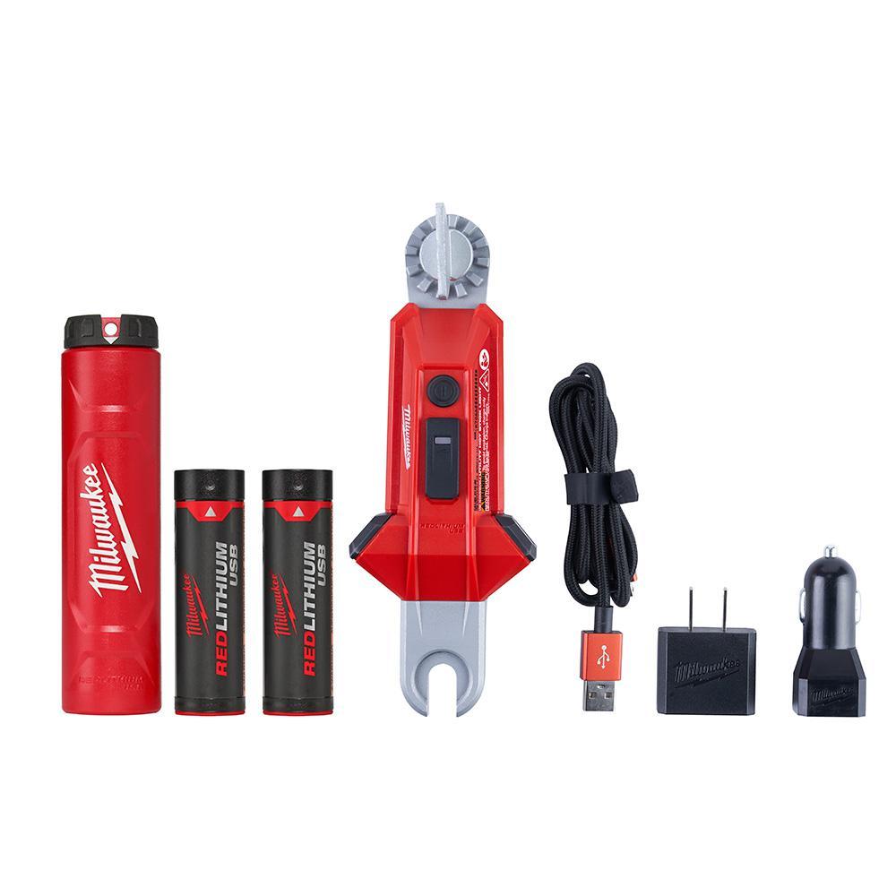 Milwaukee 350 Lumens LED Rechargeable Utility Hot Stick Flashlight