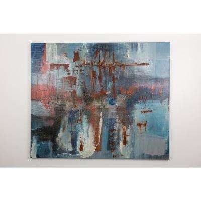 """70 in. x 60 in. """"January"""" by """"Ashleigh Fleenor"""" Hand Painted Framed Canvas Wall Art"""