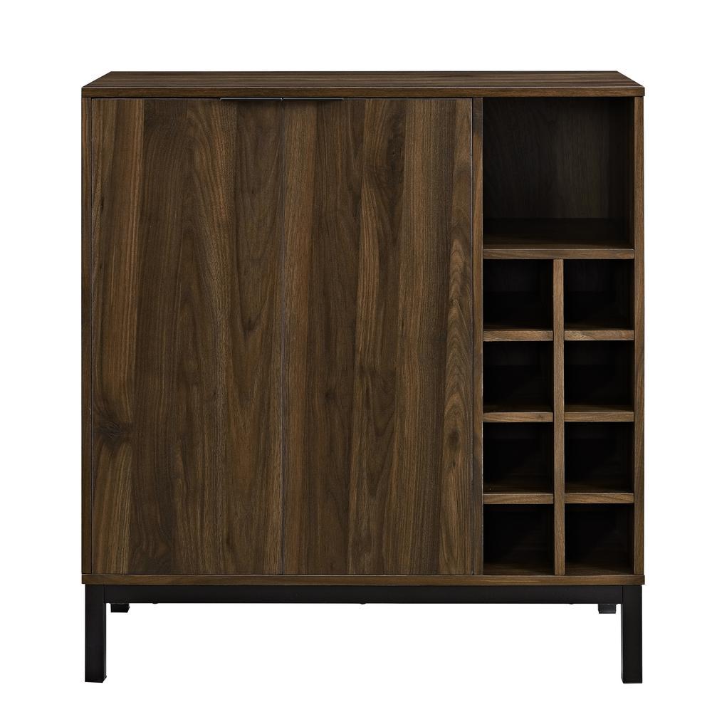 Walker Edison Furniture Company Dark Walnut Bar Cabinet with Wine Storage  sc 1 st  Home Depot & Walker Edison Furniture Company Dark Walnut Bar Cabinet with Wine ...