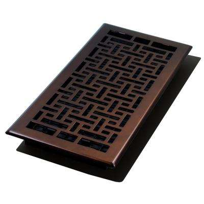 6 in. x 14 in. Oriental Bronze Floor Register