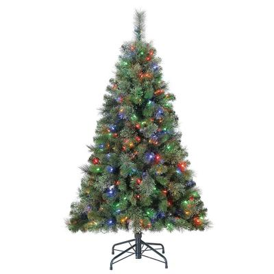 Cashmere 5 ft. Artificial Cascade Christmas Tree with Changing Lights
