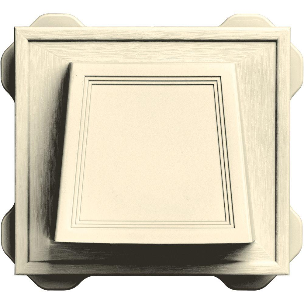 6.6875 in. x 7.375 in. Hooded Siding Vent in Heritage Cream