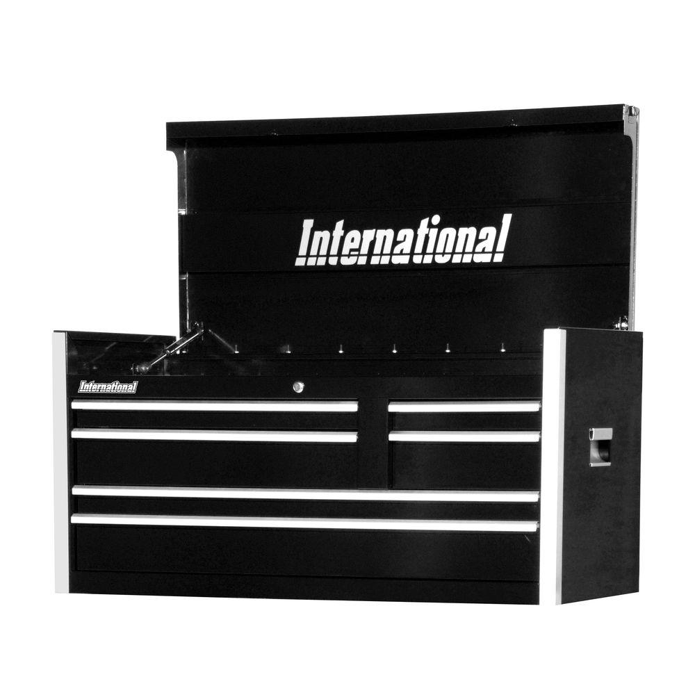 International Pro Series 42 in. 6-Drawer Top Chest, Black