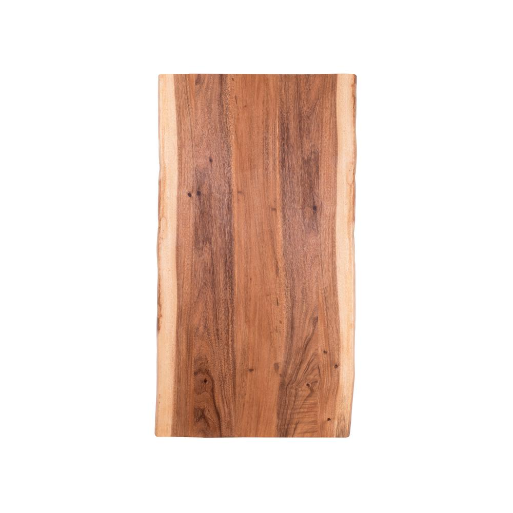 Hardwood Reflections 6 ft. L x 3 ft. 2 in. D x 1.5 in. T Butcher Block Countertop in Oiled Acacia with Live Edge