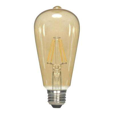 60-Watt Equivalent Vintage ST19 Dimmable LED Light Bulb