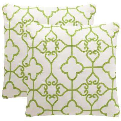 Nadia Soleil Square Outdoor Throw Pillow (Pack of 2)