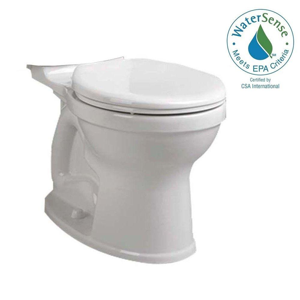 American Standard Champion 4 High Efficiency Tall Height Round Toilet Bowl Only In White