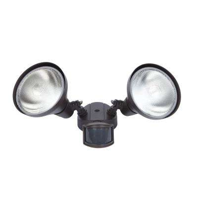 300-Watt 180° Bronze Motion Activated Outdoor Flood Light