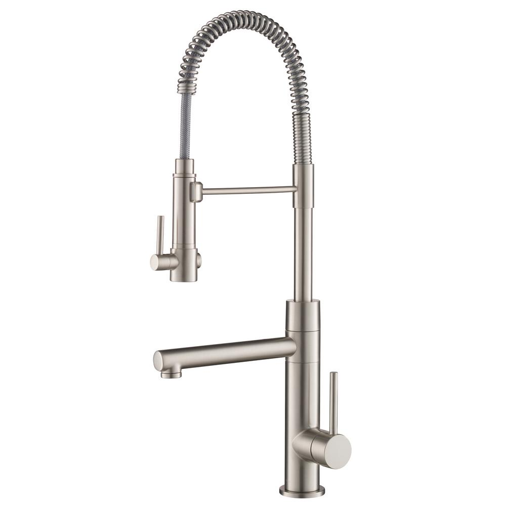 KRAUS Artec Pro Single-Handle Pull-Down Sprayer Kitchen Faucet and Pot  Filler in Spot Free Stainless Steel