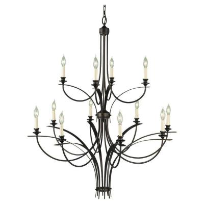 Boulevard 12-Light Oil-Rubbed Bronze Multi-Tier Chandelier