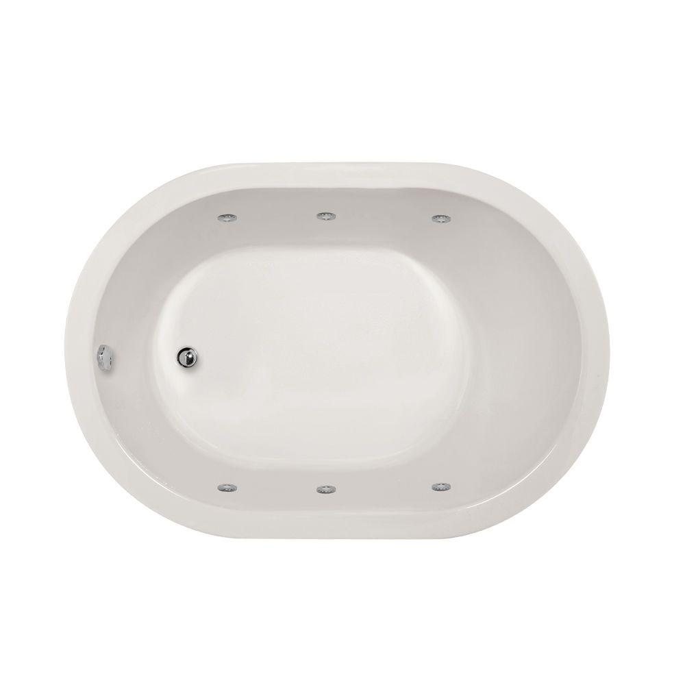 Hydro Systems Valencia 5 ft. Reversible Drain Whirlpool Tub in White