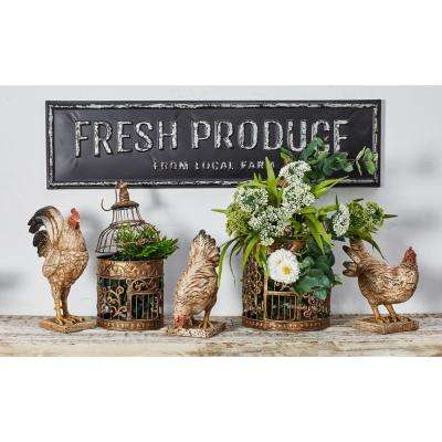 FRESH PRODUCE FROM LOCAL FARM Iron Decorative Sign