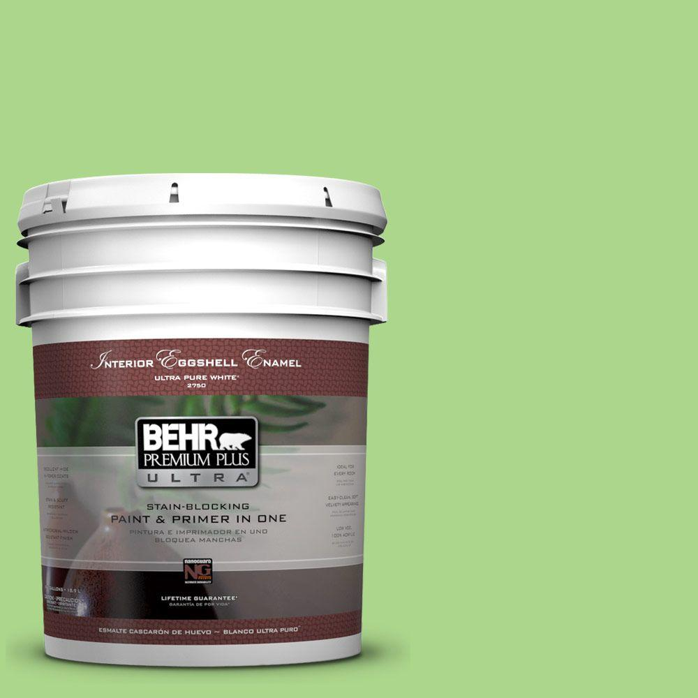 BEHR Premium Plus Ultra 5 gal. #430B-4 Peas in a Pod Eggshell Enamel Interior Paint and Primer in One