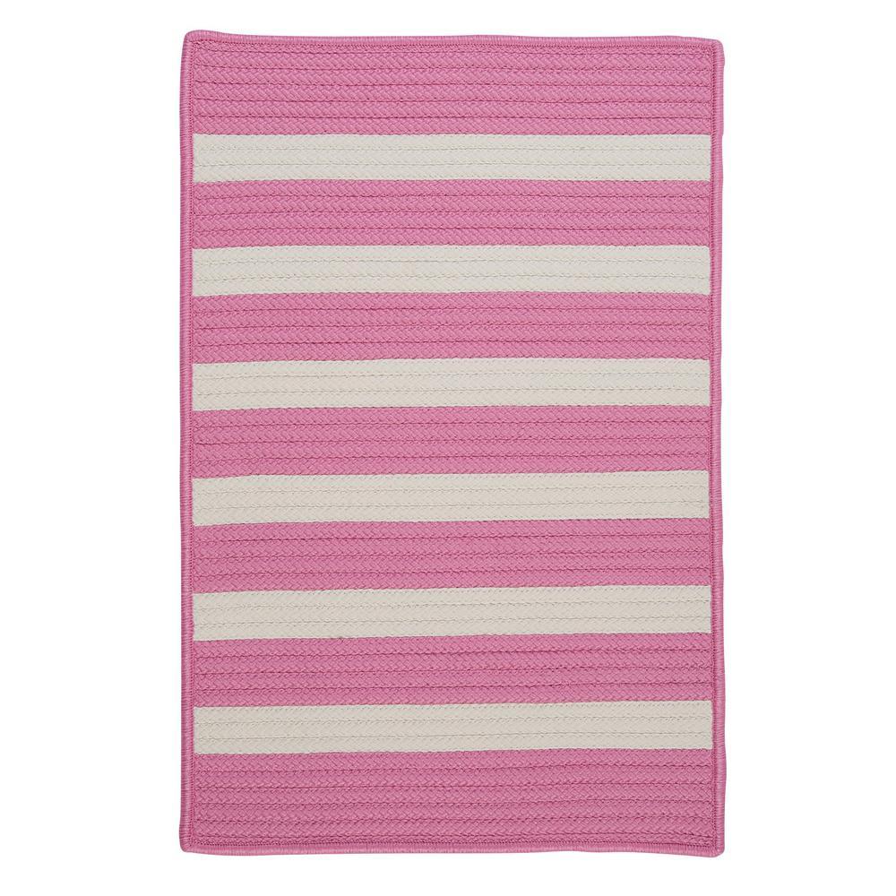 Baxter Bold Pink 2 ft. x 12 ft. Indoor/Outdoor Braided Runner Rug