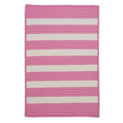 Baxter Bold Pink 5 ft. x 8 ft. Indoor/Outdoor Braided Area Rug