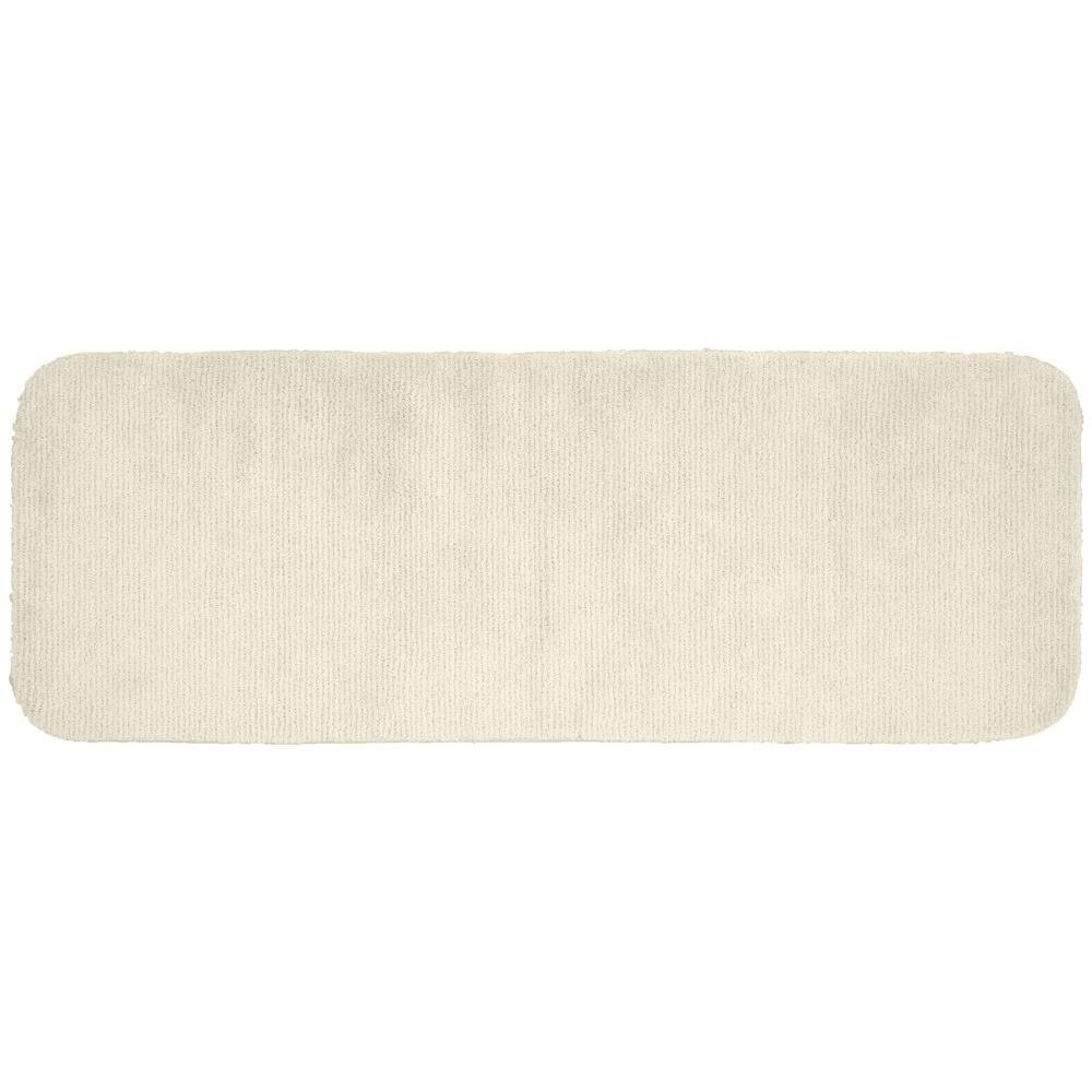 Glamor Ivory 22 in. x 60 in. Washable Bathroom Accent Rug
