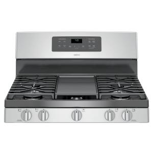 Ge Adora 5 0 Cu Ft Gas Range With Self Cleaning Convection Oven In Stainless Steel Jgb720sejss Befail