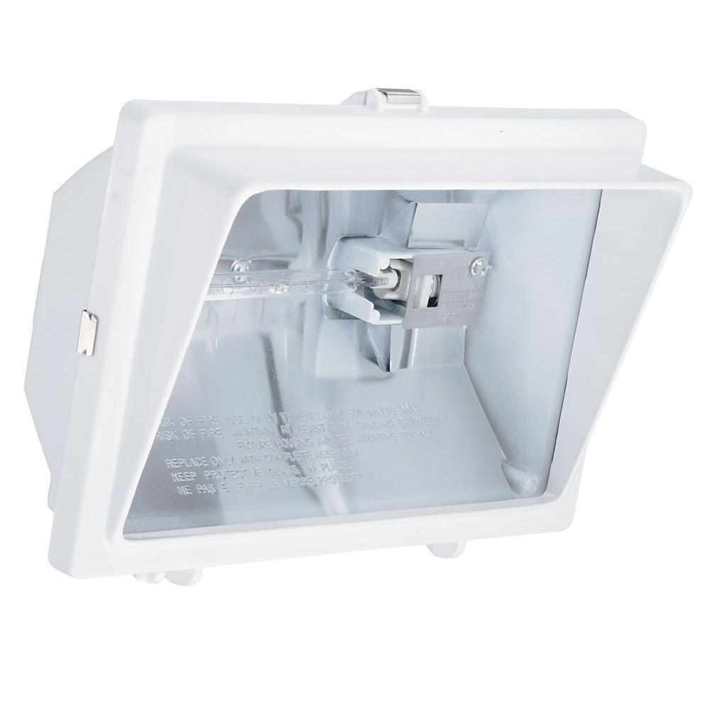 Lithonia Lighting 2-Lamp Outdoor White Flood Light-OFTH