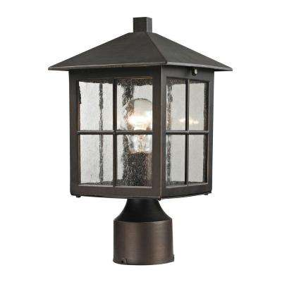 Shaker Heights 1-Light Outdoor Hazelnut Bronze Post Lantern