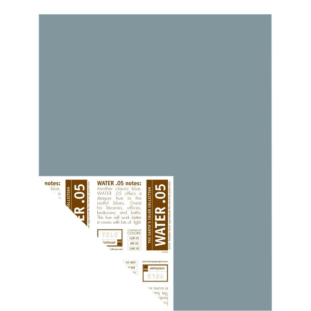 YOLO Colorhouse 12 in. x 16 in. Water .05 Pre-Painted Big Chip Sample