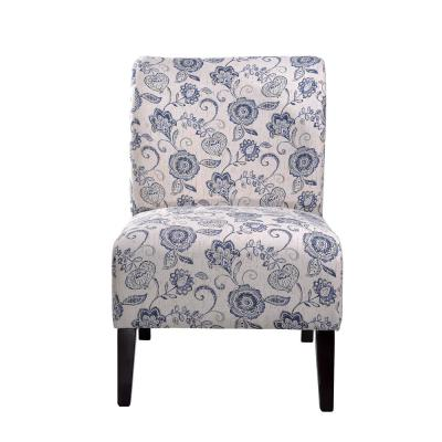 Blue Flora Accent Chair
