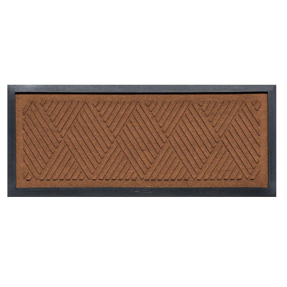 aqua shield dark brown 15 in x 36 in diamonds boot tray 20493521536 the home depot. Black Bedroom Furniture Sets. Home Design Ideas