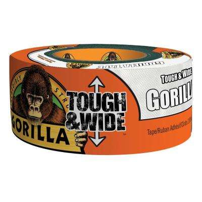 2.88 in. x 25 yd. White Tough and Wide Tape (4-Pack)