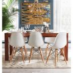Baxton Studio Azzo White Plastic Dining Chairs (Set of 2)
