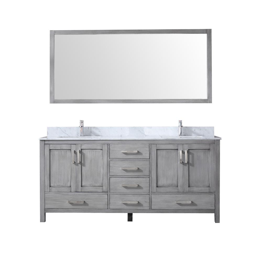 Lexora Jacques 72 in. Double Bath Vanity in Distressed ...