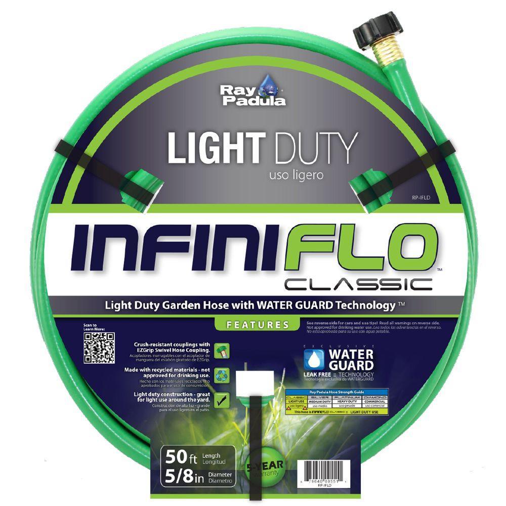 InfiniFlo Classic 5/8 in. Dia x 50 ft. Light Duty Garden Hose
