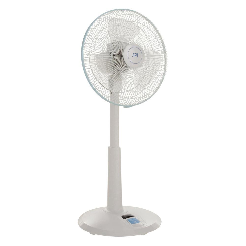 Home Depot Pedestal Fans : Spt in speed adjustable height oscillating pedestal