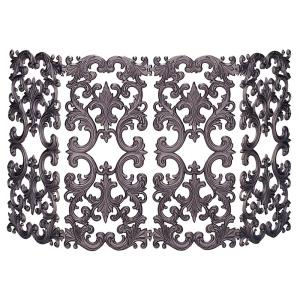 UniFlame 4 Panel Bronze Cast Aluminum Fireplace Screen by UniFlame