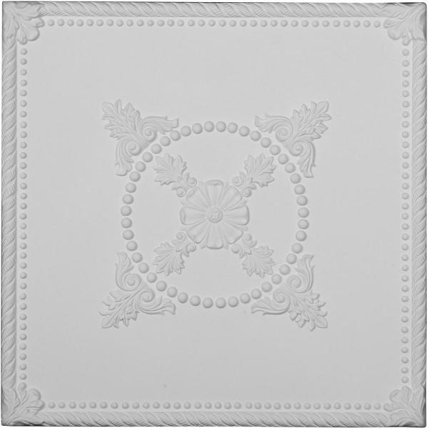Alexandria 2 ft. x 2 ft. Glue Up Polyurethane Ceiling Tile in White