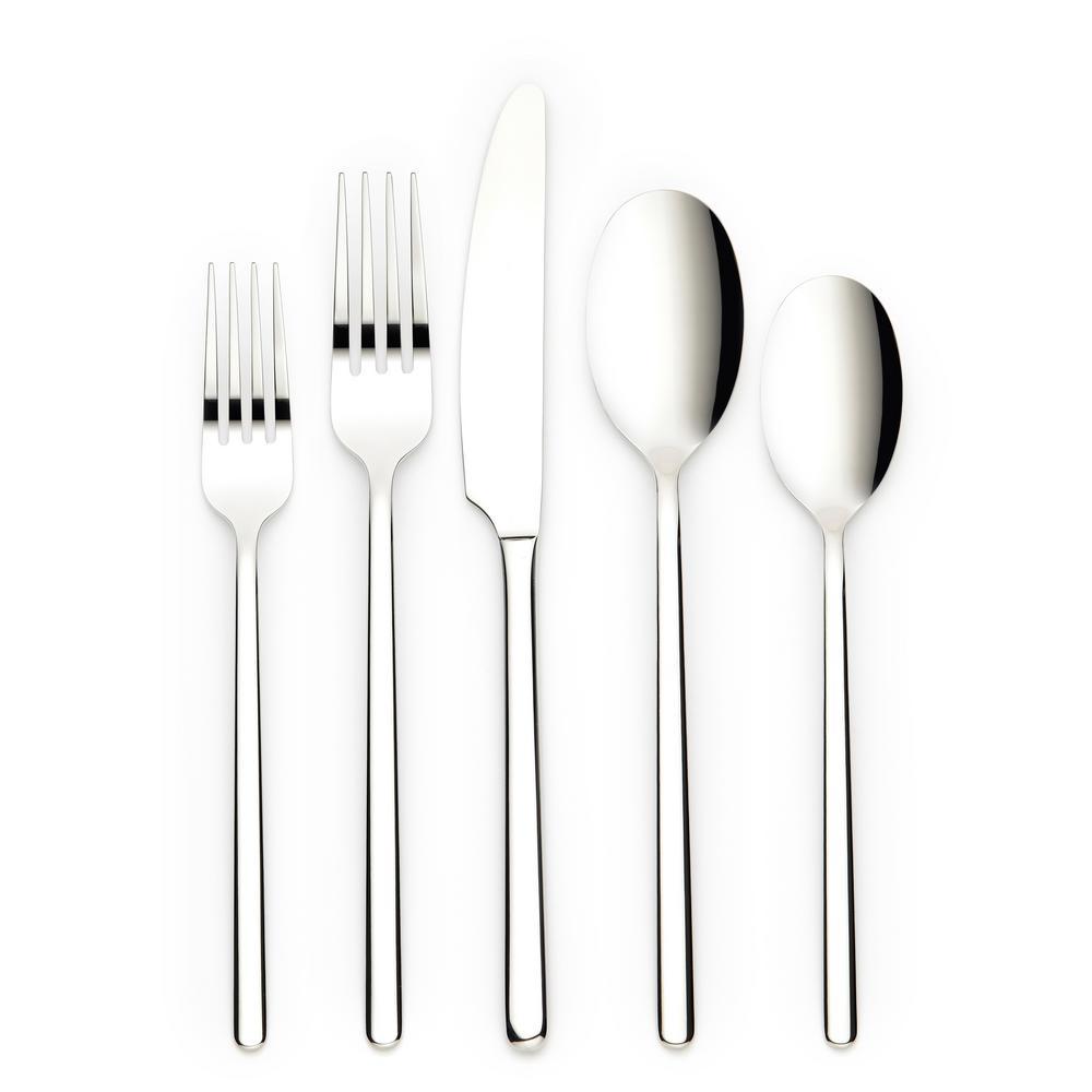 Jayden 20-Piece Silver 18/0 Stainless Steel Flatware Set (Service for 4)