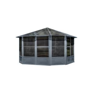 Florence Solarium 12 ft. x 12 ft. in Slate