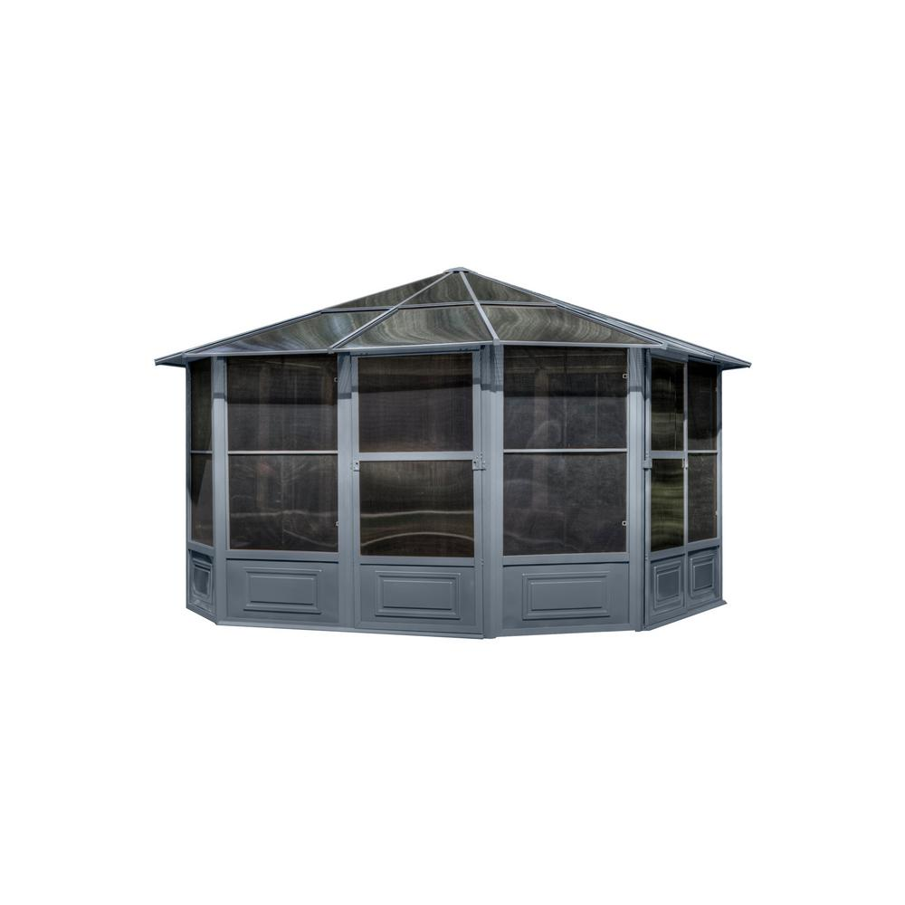 12 ft. x 12 ft. All Season Solarium in Grey
