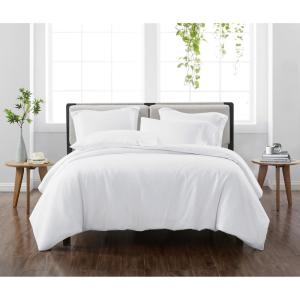 Solid White Twin/Twin XL 2-Piece Duvet Cover Set