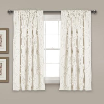 "Avon Window Panels White 63"" x 54"" Single 100% Polyester"