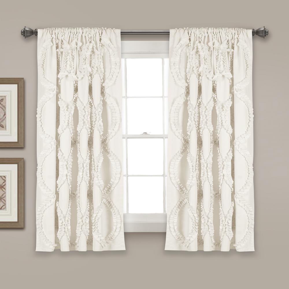 Avon Window Panels White 63'' x 54'' Single 100% Polyester