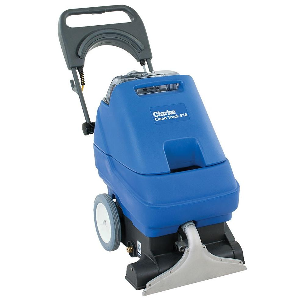 clarke clean track s16 commercial self contained upright carpet cleaner 56382723 the home depot. Black Bedroom Furniture Sets. Home Design Ideas