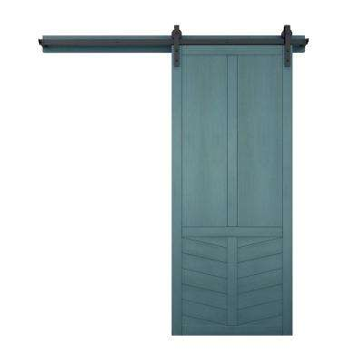 42 in. x 84 in. The Robinhood Wood Barn Door with Sliding Door Hardware Kit