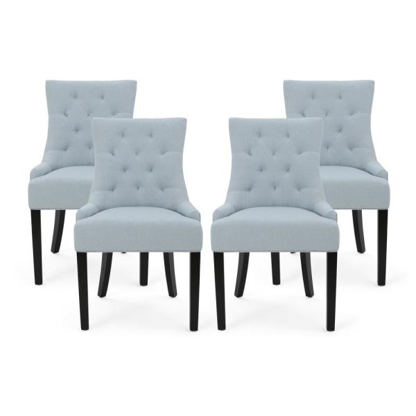 Hayden Light Sky Fabric Upholstered Dining Chair (Set of 4)