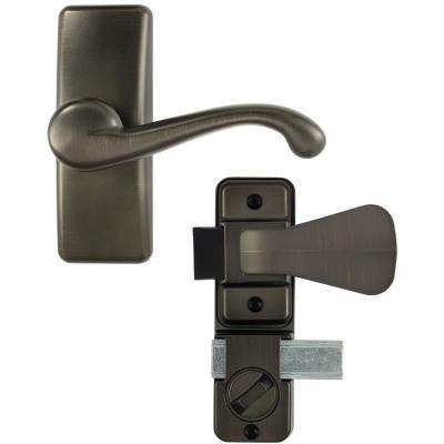 Oil Rubbed Bronze Coated Zinc Storm and Screen Door Lever Handle with Deadbolt
