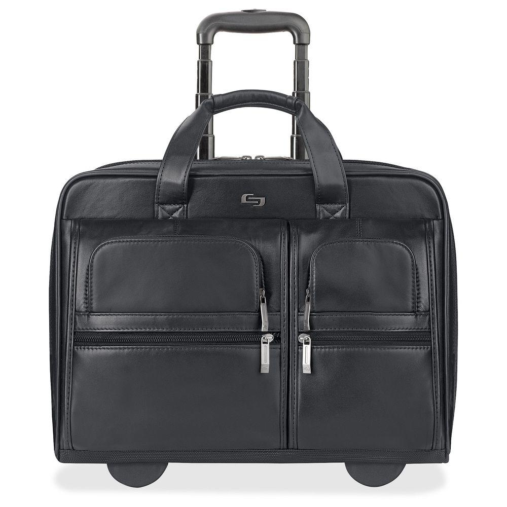 Solo 15.6 in. Checkpoint Friendly Classic Black Leather N...
