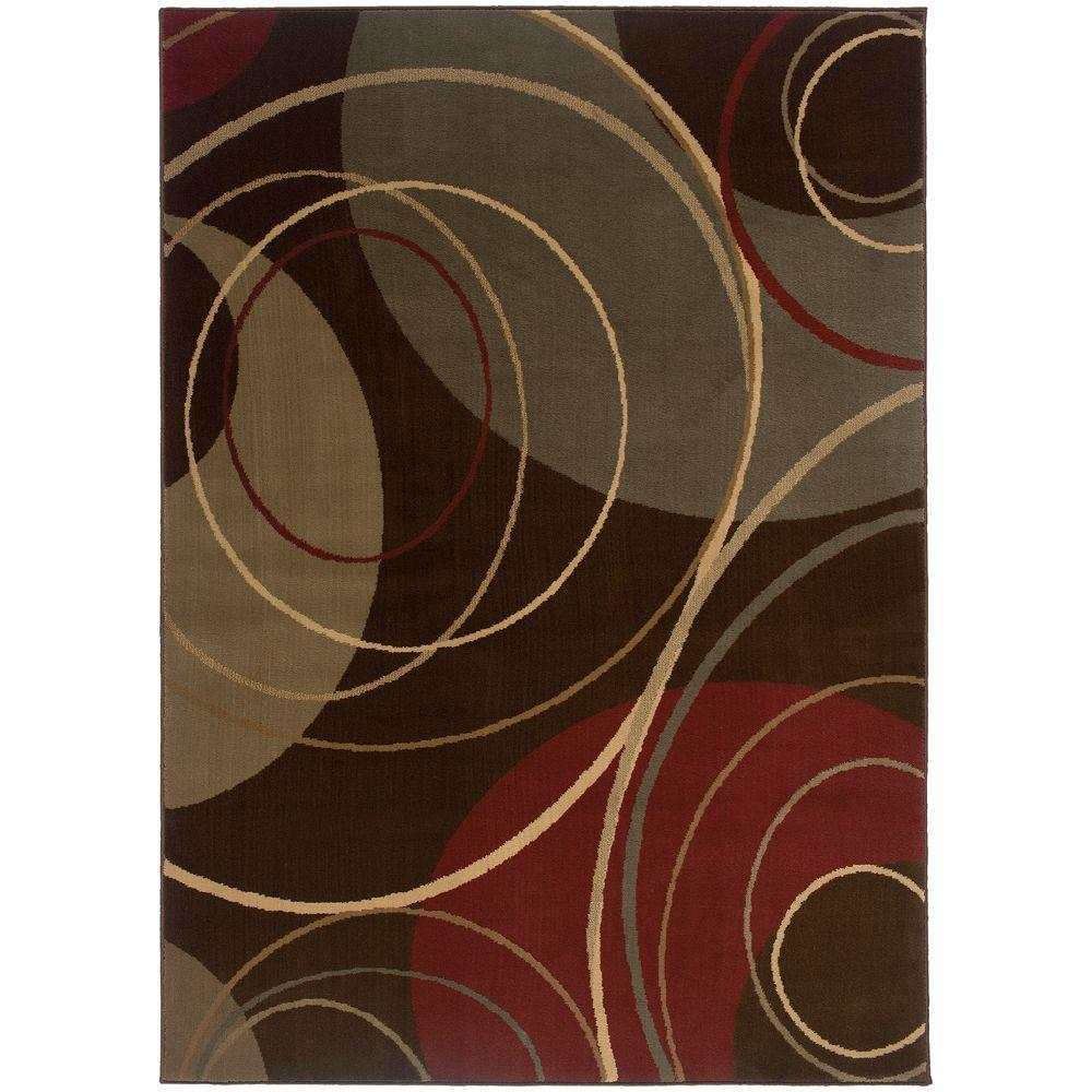 Gyro Brown 8 ft. x 10 ft. Area Rug