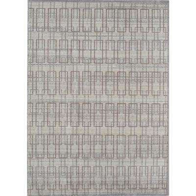 Ambrosia Ivory Gray Ivory 8 ft. 0 in. x 10 ft. 0 in. Rectangular Area Rug